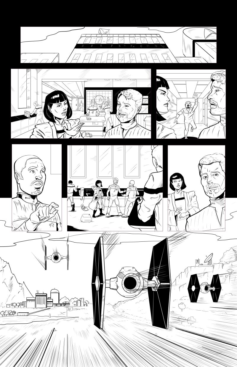 Star Trek - Invasion of the Empire - Page 1 - LineArt