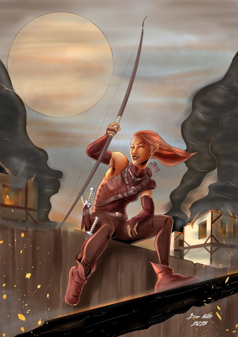 Pyromancer Dungeons and Dragons Fan Art