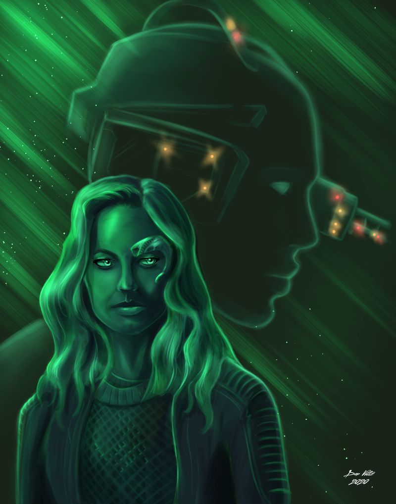 Star Trek: Picard fan art featuring Jeri Ryan as Seven of Nine.